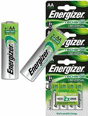 Energizer AA Rechargeable Batteries 1300mAh Pre Charged NiMH HR06