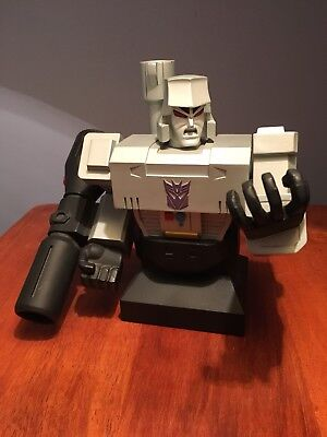 "Rare Hard Hero Transformers MEGATRON Statue 6/"" Painted Porcelain Bust #2250 /'01"