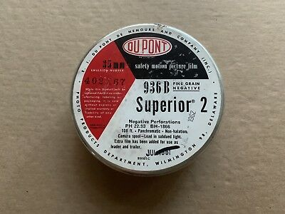 RARE DU PONT Superior 2 Type 936 B bulk Roll 35 mm B&W Panchromatic Film Vintage