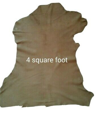Small Goat Suede Skin Natural Beige Hides Leather Craft Soft Thin Silky 4 sqft