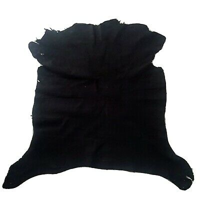 Small BLACK GOAT SUEDE Skin hide leathers craft fashion soft thin 4 SQFT