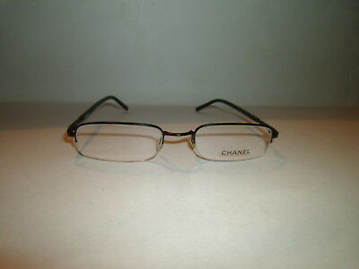 800d9ee71db71 Authentic Chanel Semi Rimless Eyeglass Eyewear Glasses Eyeglasses Frame   2041
