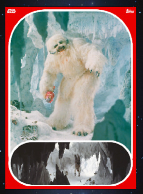 Topps Star Wars Card Trader Marathon 2019 The Empire Strike Wampa Red