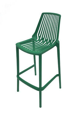 Green Porto Bar Stools, Green Stacking Bar Stools, Green Stool, Plastic Stools