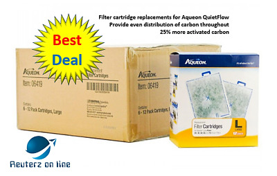 Aqueon QuietFlow Replacement Filter Cartridge Large Bulk36Count(3x12ct)ShipsFree