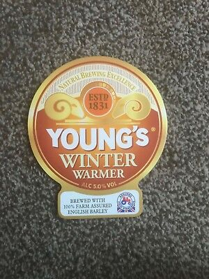 Young's Winter Warmer Beer Pump Clip Breweriana Brand New Free Fast P+P