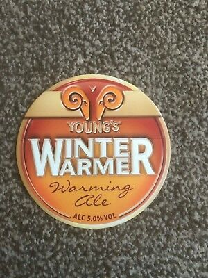 Young's Winter Warmer 2 Beer Pump Clip Breweriana Brand New Free Fast P+P