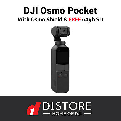 DJI Osmo Pocket With Osmo Shield and FREE 64gb Sd Card | 1 Year DJI Insurance