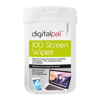 Pack of 100 Screen Cleaning Wipes in Plastic Storage Container