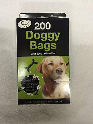 Tidyz Scented Doggy Poop Bags with Easy Tie Handle (200pk)