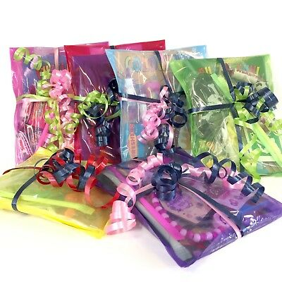 Children's Rainbow Party Parcels Kids Pre Filled Party Bags Birthday Loot Bags