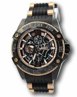Invicta Marvel Limited Edition Women's Rose Gold Spiderman Watch 27028 42 mm