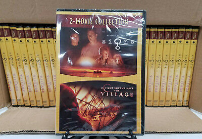 Signs The Village 2-Movie Collection M Night Shyamalan 30 DVDs Lot New Sealed