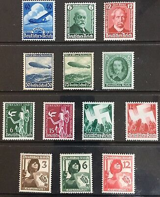 Germany Third Reich 1936-1937 issues MLH