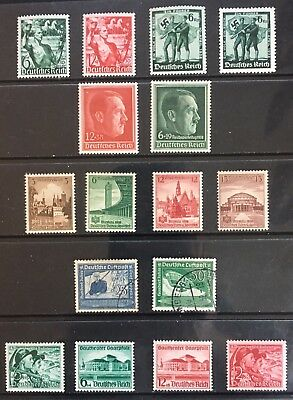 Germany Third Reich 1938 issues MLH & 2 used