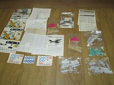 """Seven X 1:72 Scale Kit Model Military """"sopwith"""" Aircraft, All Unbuilt In Packs"""