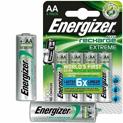 Energizer Extreme 2300mAh AA Rechargeable Batteries NiMH Ready To Use HR06