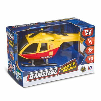 Teamsterz Light and Sounds Kids Rescue Helicopter Toy