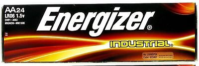 24 Energizer Industrial AA Alkaline Batteries EN91 LR06 1 Box of 24 Batteries