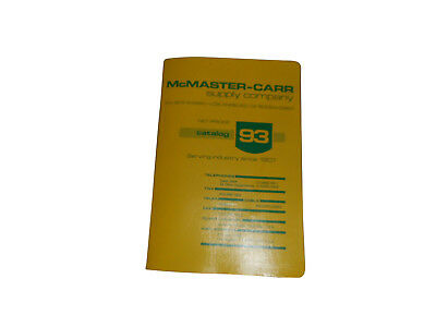 McMASTER-CARR Supply Company Catalog 93 - Los Angeles, complete Index.
