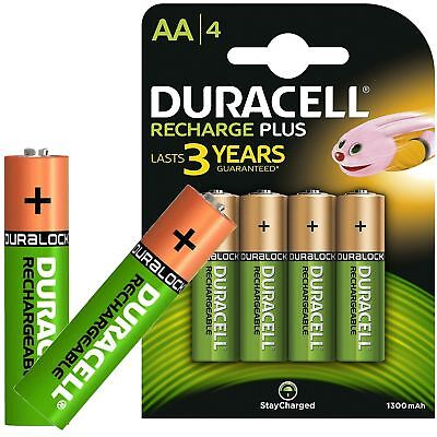 Duracell AA Rechargeable Batteries NiMH 1300mAh Stay Charge HR06