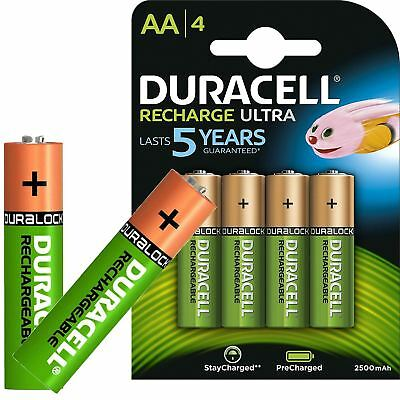 Duracell Ultra AA Rechargeable Batteries 2500mAh NiMH PreCharged HR6
