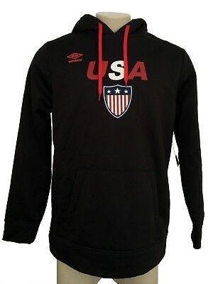 57e71975f9 UMBRO N6 Mens Black Team USA Cold Gear Hoodie Athletic Sweater Size M NWT