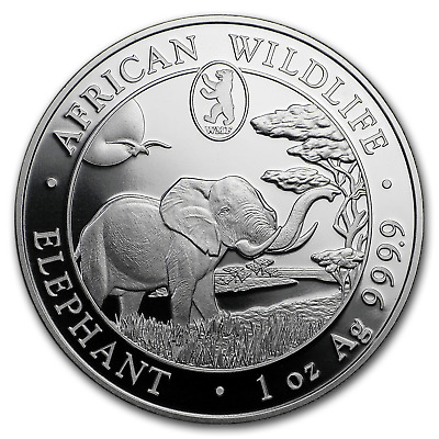 2019 Somalia 1 oz Silver Elephant (Berlin WMF Privy Mark) - SKU#186072