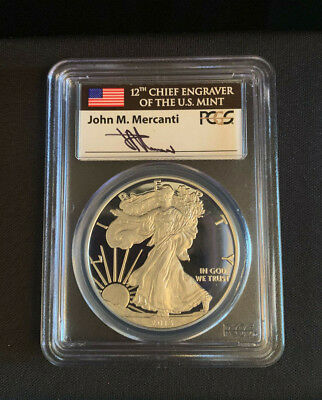 American Silver Eagle 2013-W 1OZ PCGS PR70DCAM First Strikes Mercanti Signed