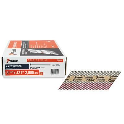 "2500 Count PASLODE Framing 3-1/4"" x .131 Nail Gun 30 Degree Strip Nails 650839"