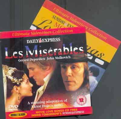 Les Miserables - Uk Promo Dvd: Gerard Depardieu + Movie Love Songs Cd (2005)