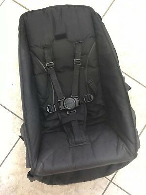 Black TOP SEAT Fabric Steelcraft Strider Compact or Plus Pram - Round Buckle