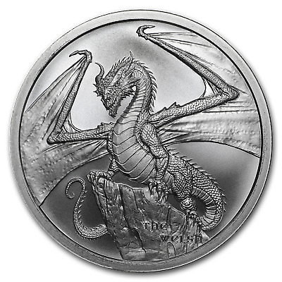 1 oz Silver Round - World of Dragons (The Welsh) - SKU#186031