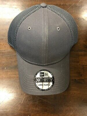 New Era 39THIRTY Mesh Back Flex Stretch Hat Blank Cap - Gray Large XLarge  NEW c026487fca45
