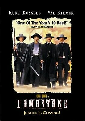 NEW DVD - TOMBSTONE - Kurt Russell, Val Kilmer, Sam Elliott, Powers Boothe,