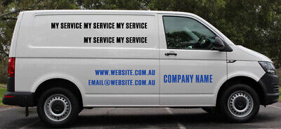 Business Vehicle Graphics Lettering Vinyl Sign Van Ute Car sticker 120x60cm