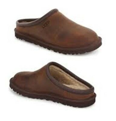 0d8781659a1 UGG AUSTRALIA MENS Classic Clog Slippers Stout Brown 1011413 Size 8 New