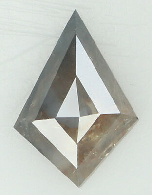 Natural Loose Diamond Kite I3 Clarity Grey Brown Color 9.50 MM 0.89 Ct KR1449