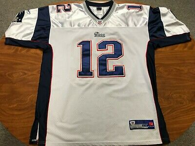 ed7dfd8ce Mens Vintage Reebok Authentic Tom Brady New England Patriots Nfl Jersey Size  54