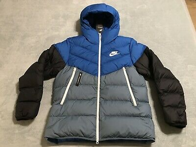 NIKE SPORTSWEAR WINDRUNNER Down Fill Hooded Jacket Men's XXL 2XL BLUE 928833 486