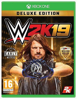 WWE 2K19 Deluxe Edition Microsoft Xbox One Game 16+ Years