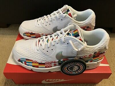 e45483d7a Nike Air Max 90 NIC QS Men s sz 12 International Flag World Cup White AO5119 -