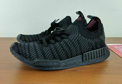 f915195c5c6e9 Adidas NMD R1 STLT Primeknit Boost Mens Shoes Sneakers Black CQ2391 SZ 9.5  12 13