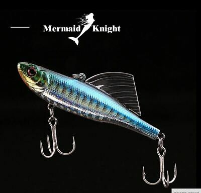 Hard Body Lure with Sail Fishing Stainless Steel Treble Hook