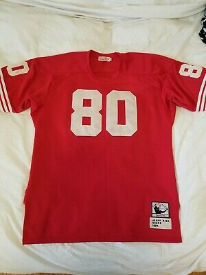 Hot SAN FRANCISCO 49ERS Jerry Rice #80 Stitched Mitchell & Ness Jersey  free shipping