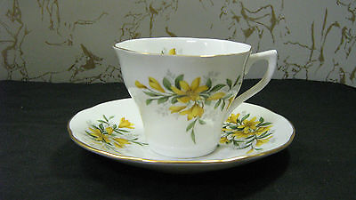 Duchess Tea Cup and Saucer England Bone China Queens #19 Yellow Flowers  NICE !