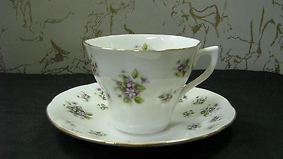"""Duchess Tea Cup and Saucer England Bone China Queens #18  Flowers """"excellent""""!"""