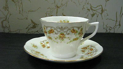 """Duchess Tea Cup and Saucer England Bone China Queens #15 Yellow Flowers """" mint """""""