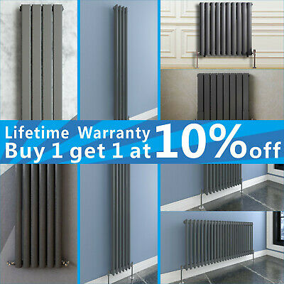 Designer Radiator Vertical Horizontal Anthracite Flat Panel Oval Column Panel