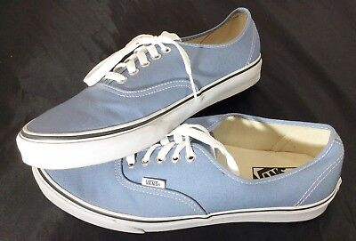 Vans Off The Wall Shoes Sneakers Blue White Striped 10 1/2 Mens 12 Womans LaceUp